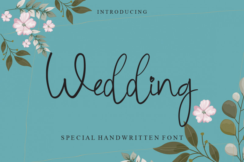 Wedding Cursive Handwritten Font