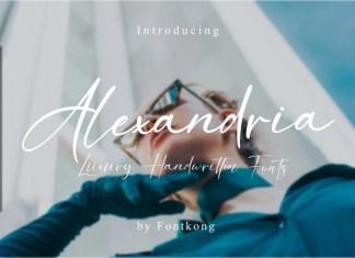 Alexandria Script Font