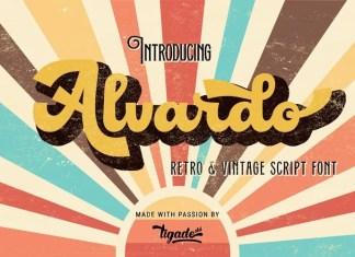 Alvardo Bold Script Font