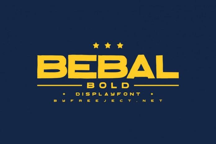 Bebal Bold Display Font