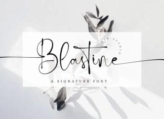 Blastine Script Font