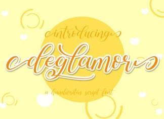 Deglamor Calligraphy Font