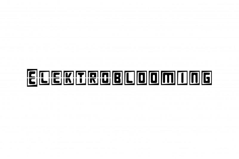 Elektroblooming Display Font