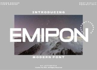 Emipon Display Font
