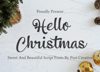 Hello Christmas Calligraphy Font