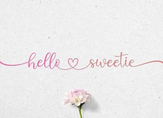 Hello Sweetie Calligraphy Font