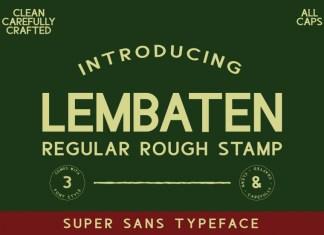 Lembaten Sans Serif Font