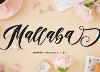 Mallaba Calligraphy Font