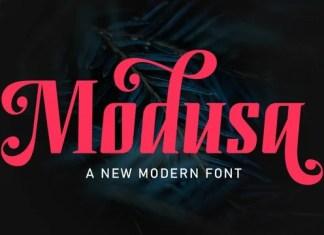 Modusa Display Font