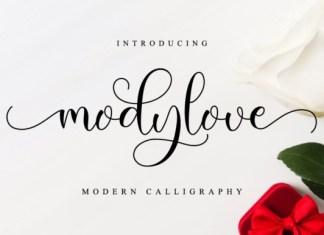 Modylove Calligraphy Font
