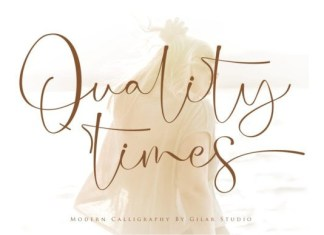Quality Times Calligraphy Font