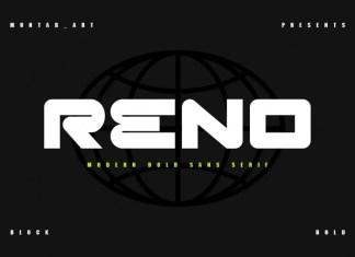 Reno Bold Sans Serif Font