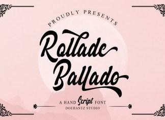 Rollade Ballado Bold Script Font