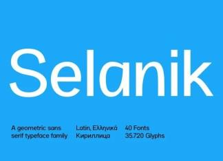SK Selanik Sans Serif Font