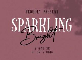 Sparkling Bright Display Font