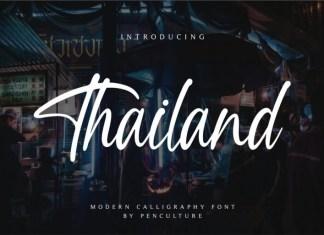 Thailand Script Font