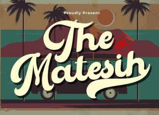 The Matesih Bold Script Font