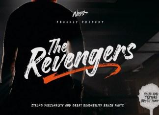 The Revengers Brush Font