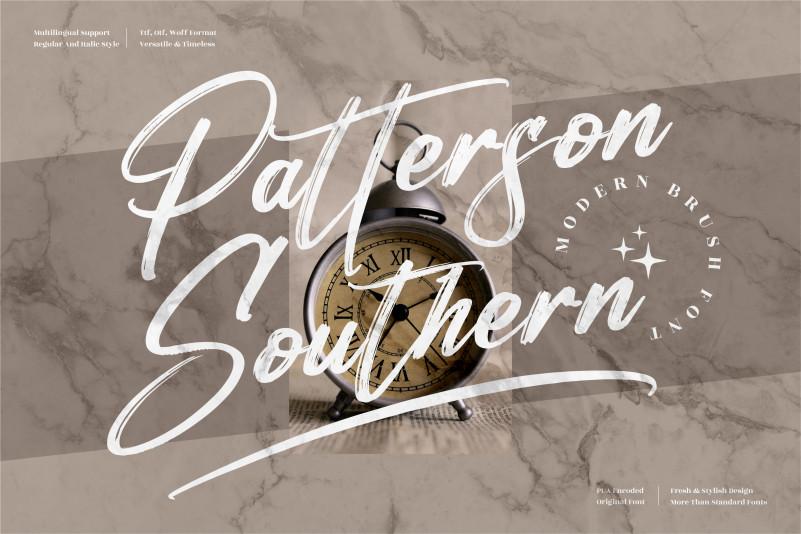 Patterson Southern Brush Font