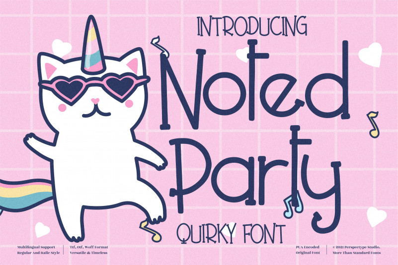 Noted Party Display Font