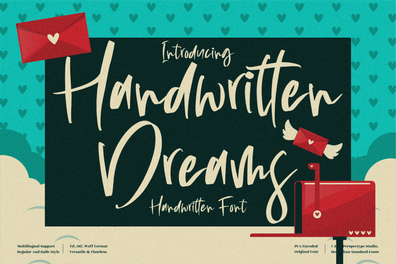 Handwritten Dreams Brush Font