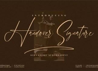 Handover Signature Script Font