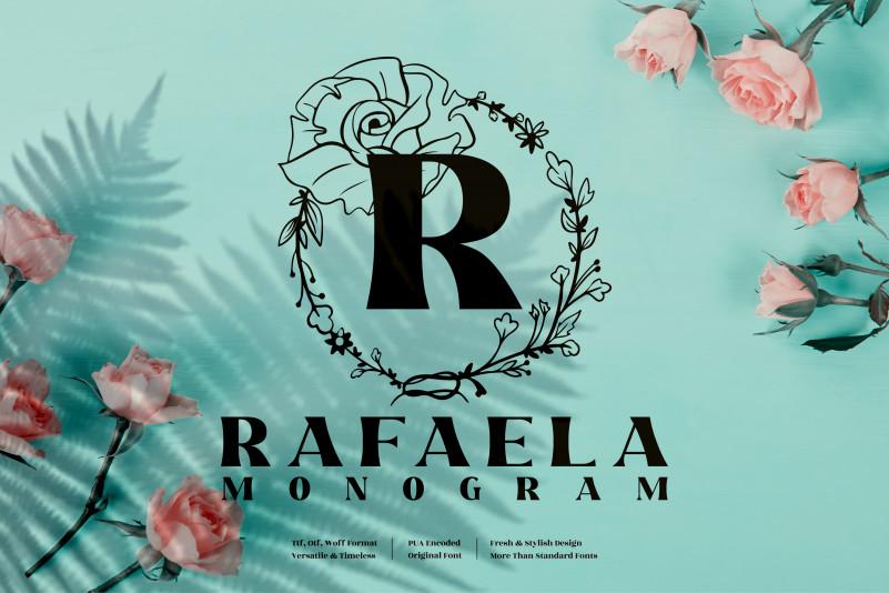 Rafaela Monogram Display Font