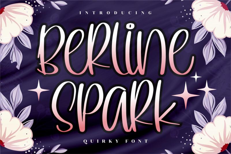 Berline Spark Display Font