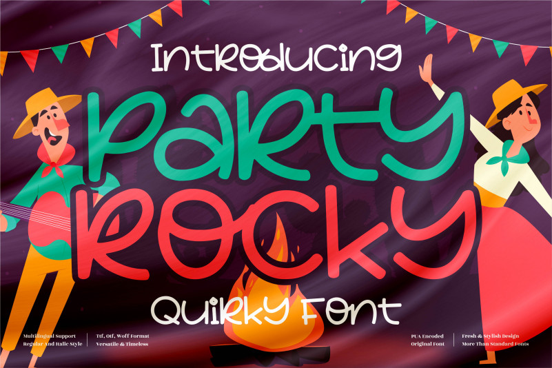 Party Rocky Display Font