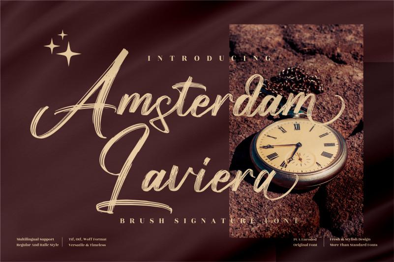 Amsterdam Laviera Brush Font