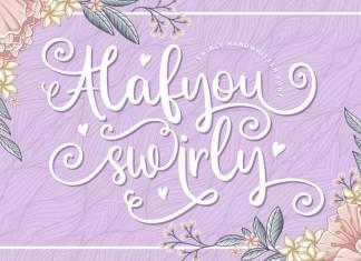 Alafyou Swirly Calligraphy Font