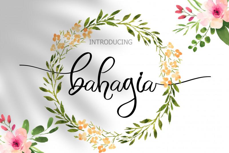 Bahagia Calligraphy Font