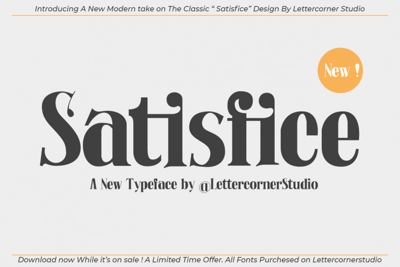Satisfice Font