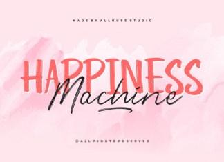 Happiness Machine Script Font