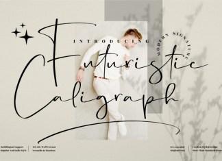 Futuristic Caligraph Handwritten Font