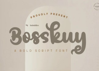 BosskuyScript Font