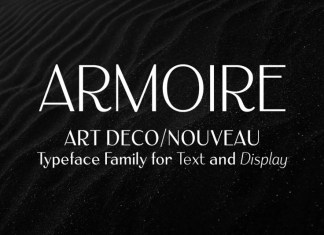 Armoire: Art Deco Sans Serif Font
