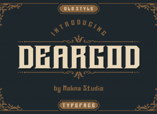 Deargod Display Font
