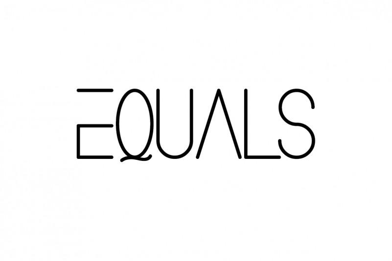 Equals Display Font