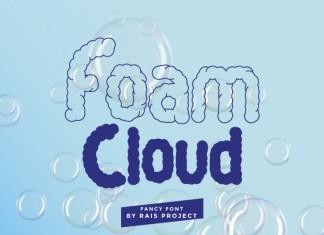 Foam Cloud Display Font