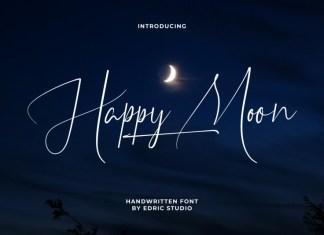 Happy Moon Script Font