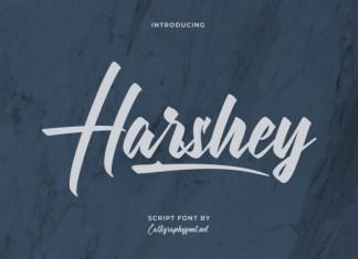 Harshey Brush Font