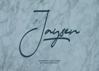 Jaysen Handwritten Font