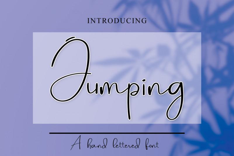 Jumping Handwritten Font
