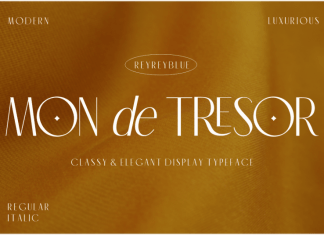Mon de Tresor Sans Serif Font