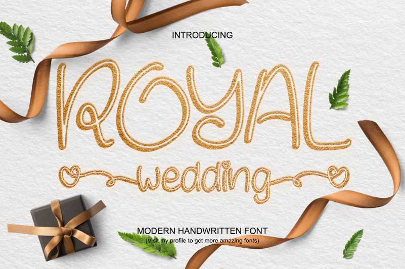 Royal Wedding Handwritten Font