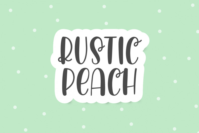 Rustic Peach Display Font