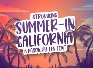 Summer in California Display Font