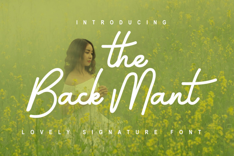 The Back Mant Font