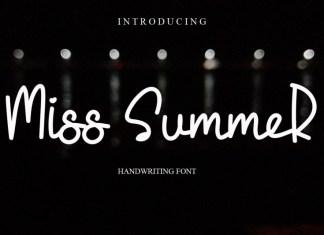 Miss Summer Handwritten Font
